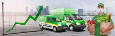 Сервис «Грузовичкоф» отмечает увеличение спроса на доставку.