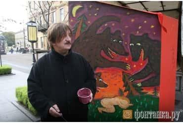 Виктор Тихомиров разрисовал «шкаф добра» на Малой Конюшенной