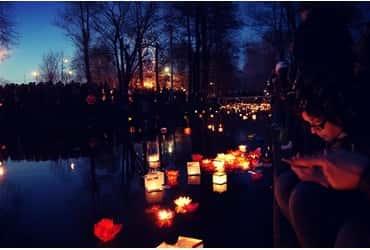 Весенний Фестиваль Водных фонариков